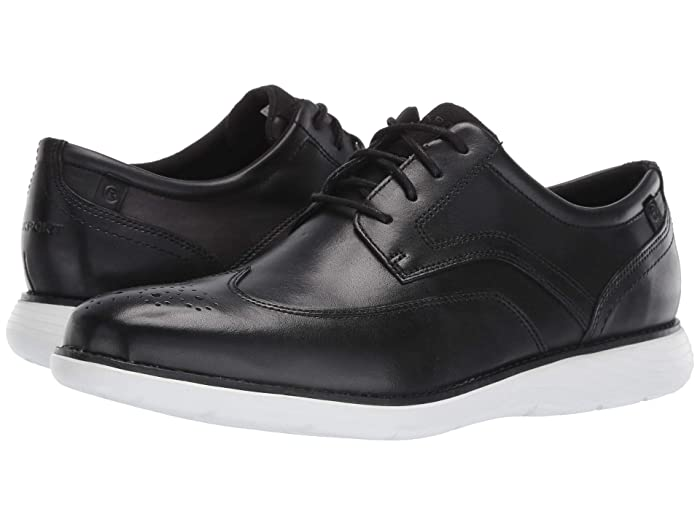Rockport  Garett Wing Tip (Black/White) Mens Shoes