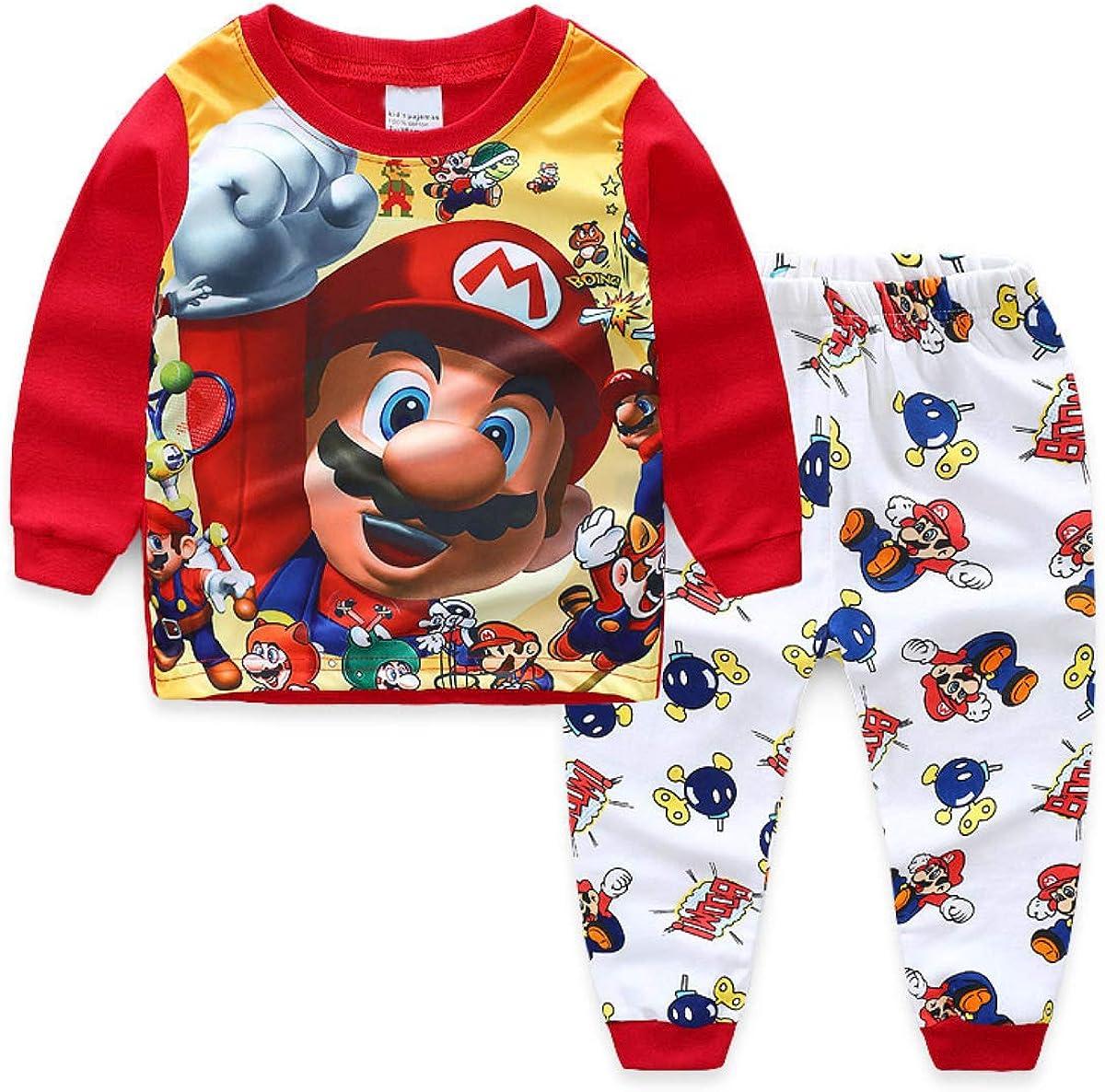 Discount is also underway San Francisco Mall Foryo Boys Super Hero Pajamas Set 100% Cot Kids Nightwear Summer