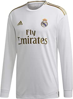 adidas Men's Real Madrid Home Long Sleeve Jersey 2019-20 (White/Gold)