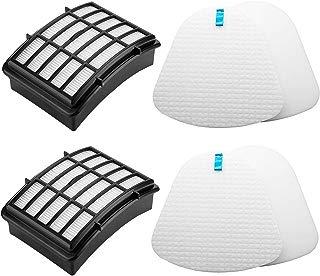 Lemige Vacuum Filters Replacement Set for Shark Navigator Lift-away NV350 NV351 NV352 NV355 NV356E NV357 NV360 NV370 NV391 UV440 UV490 UV540, 2 HEPA Filters +2 Foam&Felt Filters, Part XHF350 & XFF350