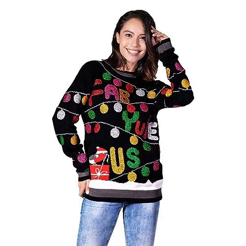 Vintage Christmas Sweaters.Retro Christmas Sweater Amazon Com