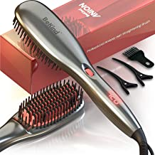 برس مو صاف کننده 30 در 1 BeKind ، ساخته شده در ویژگی آنیون ارتقا یافته ، گرم شدن سریع 15 ثانیه ، تنظیمات دمای چندگانه (از 265 ℉ تا 450 ℉) با طراحی ضد سوزش ، هدیه برای دختران زن