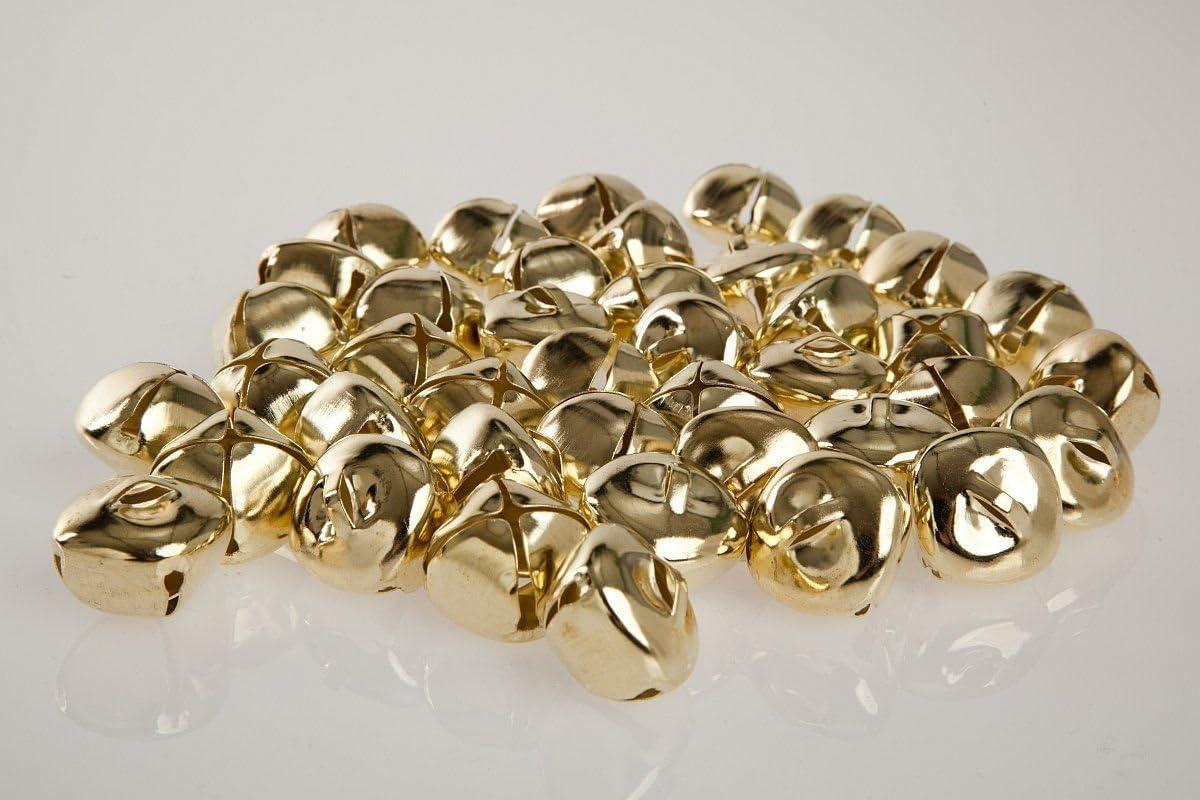 Kleenes Traumhandel/ color plateado 24 mm, hierro con anilla /Juego de 50 cascabeles cuadrados