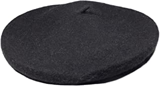 Captain Classic French 100% Wool Beret Solid Color - Casual Lightweight Parisian Womens Style Berets Hats for Girls and Women