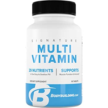 Amazon Com Bodybuilding Signature Multivitamin Tablets Adult Vitamin Nutrient Supplement Gluten Free 90 Count Health Personal Care