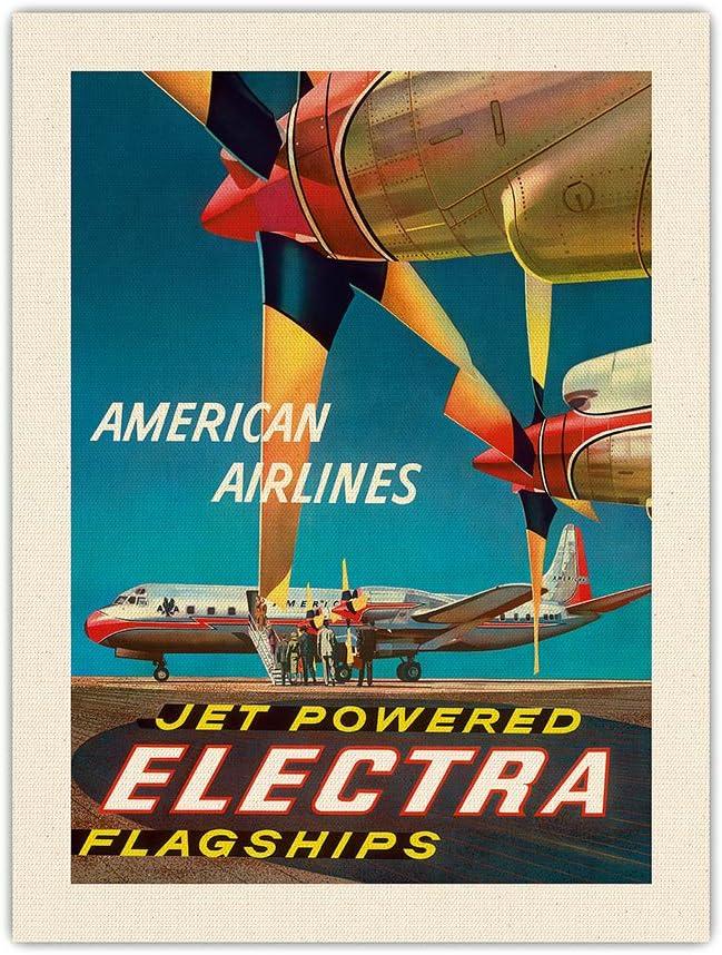 Pacifica Island Art American Airlines Electra - Flag Jet 激安通販販売 Powered 新品