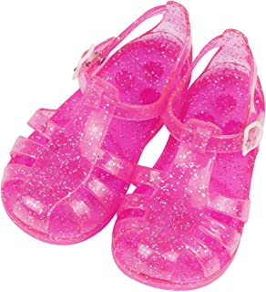 Child Anti-Slip Transparent Shiny Jelly Shoes Roman Sandals for Girls, Babies Toddlers