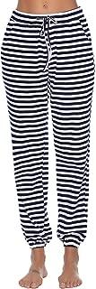 Women's Cotton Pajama Pants Stretch Lounge Pants with Pockets Pajama Bottoms