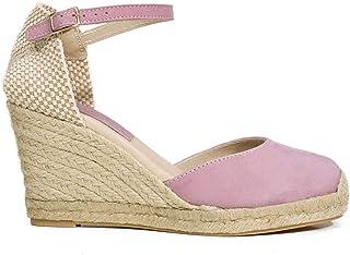 856c7d92cb3 Zapatos miMaO. Zapatos Piel Mujer Hechos EN ESPAÑA. Cuñas Esparto Mujer.  Sandalias Plataforma
