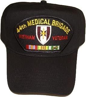 44TH MEDICAL BRIGADE VIETNAM VETERAN HAT with ribbons and 44th Med Brigade crest cap - BLACK - Veteran Owned Business