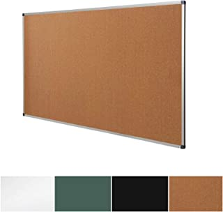 Cork Notice Pin Board | Aluminum Framed Memo Board for Office and Home Use | 3 Sizes Available - 36