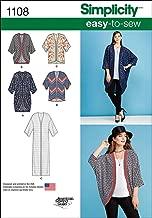 Simplicity 1108 Women's Kimono and Cardigan Sewing Pattern, Size XXS-XXL