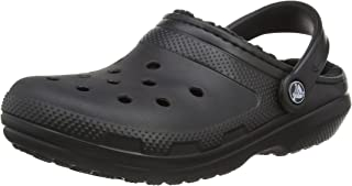 Crocs Mens and Womens Classic Fuzz Lined Clog Shoe | Great Indoor or Outdoor Warm and
