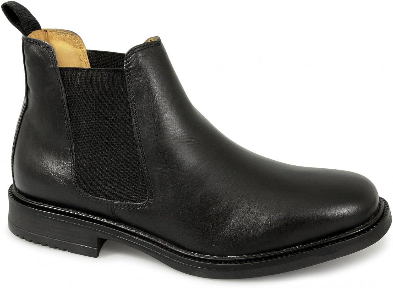 Roamers M278A Black Gusset Mens Chelsea Boots