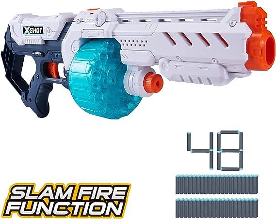 XShot 36350 Excel Turbo Fire Foam Dart Blaster with Slam-Fire Function (48 Darts) by Zuru