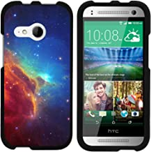 TurtleArmor | Compatible with HTC One M8 Mini Case | One Mini 2 | One Remix [Slim Duo] Two Piece Hard Cover Slim Snap On Case on Black - Colorful Nebula Galaxy