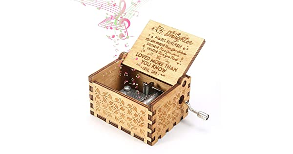 Vintage Classic Handmade Engraved Musical Box Volwco Music Box You Are My Sunshine 18 Note Boys Carved Wooden Hand Crank Music Boxes Childrens Day Birthday Gift For Kids Friends Girls