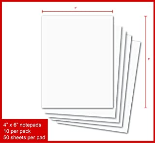 Creative Business Blank Notepads - Pack of 10 Memo Pads 4 x 6 Inches, 50 Sheets Per Pad Scratch Pads (4 x 6-10 Pads)