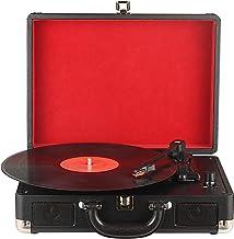 DIGITNOW! Tocadiscos Plato giradiscos Plato Vinilo 33/45/78 RPM, Maleta Portátil con 2 Altavoces Integrados, Grabador de Vinilo a MP3, USB Reproductor MP3, Entrada AUX y RCA, Negro