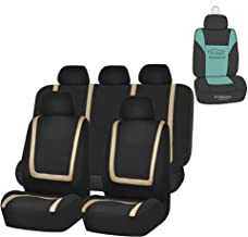 FH Group FB032115 Unique Flat Cloth Seat Covers (Beige) Full Set with Gift –..