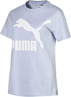 PUMA Women's Classics Logo Tee Heather, (Blue 43), Medium