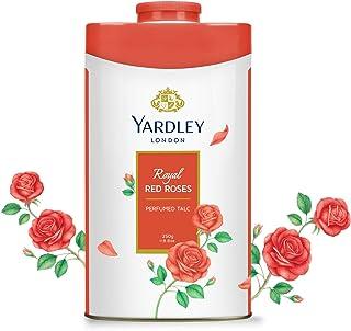 YARDLEY Royal Red Rose Perfumed Talcum Body Powder, all day floral rose fragrance, 250 gm