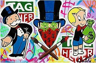 Shmjql ALEC Graffiti Art Peintures sur Le Mur Art Affiches Et Gravures Street Art Toile Photos Décor À La Maison-60X90Cmx1...