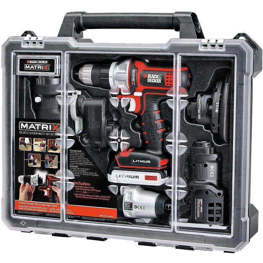 BLACK+DECKER BDCDMT1206KITC Matrix 6 Tool Combo Kit with Case