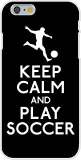 Apple iPhone 6 Custom Case White Plastic Snap On - Keep Calm and Play Soccer (Soccer Player)