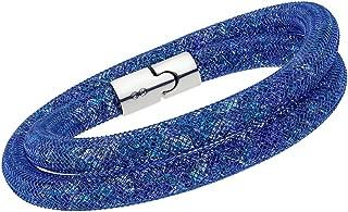 Swarovski Stardust 5189759 Blue Multi-color Crystals Double Wrap Bracelet - M