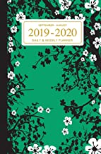 September - August 2019 To 2020 Daily - Weekly Planner: Mini Student Calendar; Green Cherry Blossoms Cover