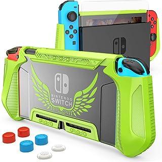 HEYSTOP dockningsbart fodral för Nintendo Switch, TPU-fodral, skyddande fodral för Nintendo Switch Console och Joy-Con Con...
