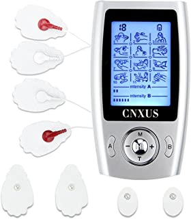 CNXUS TENS Unit, (FDA 510k Cleared) Independent-Control A/B Channel+12 Diverse Modes + 8 Pads +Rechargeable Muscle Stimulator Unit, Pain Relief Pulse Impulse Mini Massager Therapy Machine