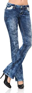 Women's Slim Fit Stretch Denim Straight Leg Jeans