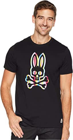 Abstrast Striped Bunny Graphic Tee
