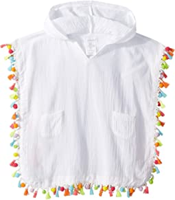 Mud Pie Hooded Tassel Swimsuit Cover-Up (Infant/Toddler)