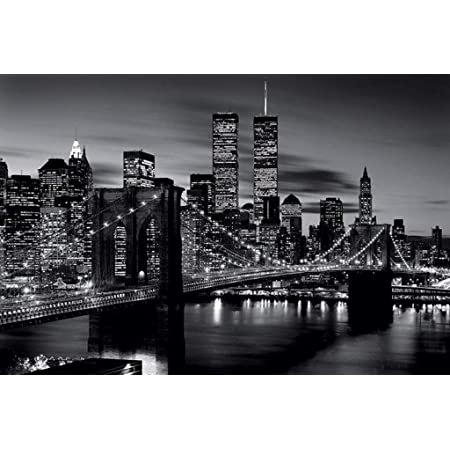 Postereck-Poster 0529-Brooklyn Bridge New York City Black White America