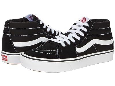 Vans ComfyCush SK8-Mid ((Classic) Black/True White) Athletic Shoes