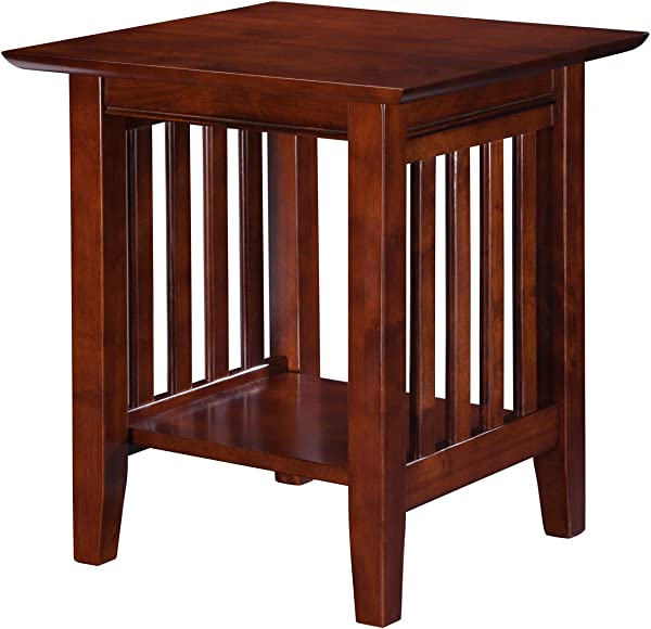 Atlantic Furniture AH14204 Mission End Table Walnut