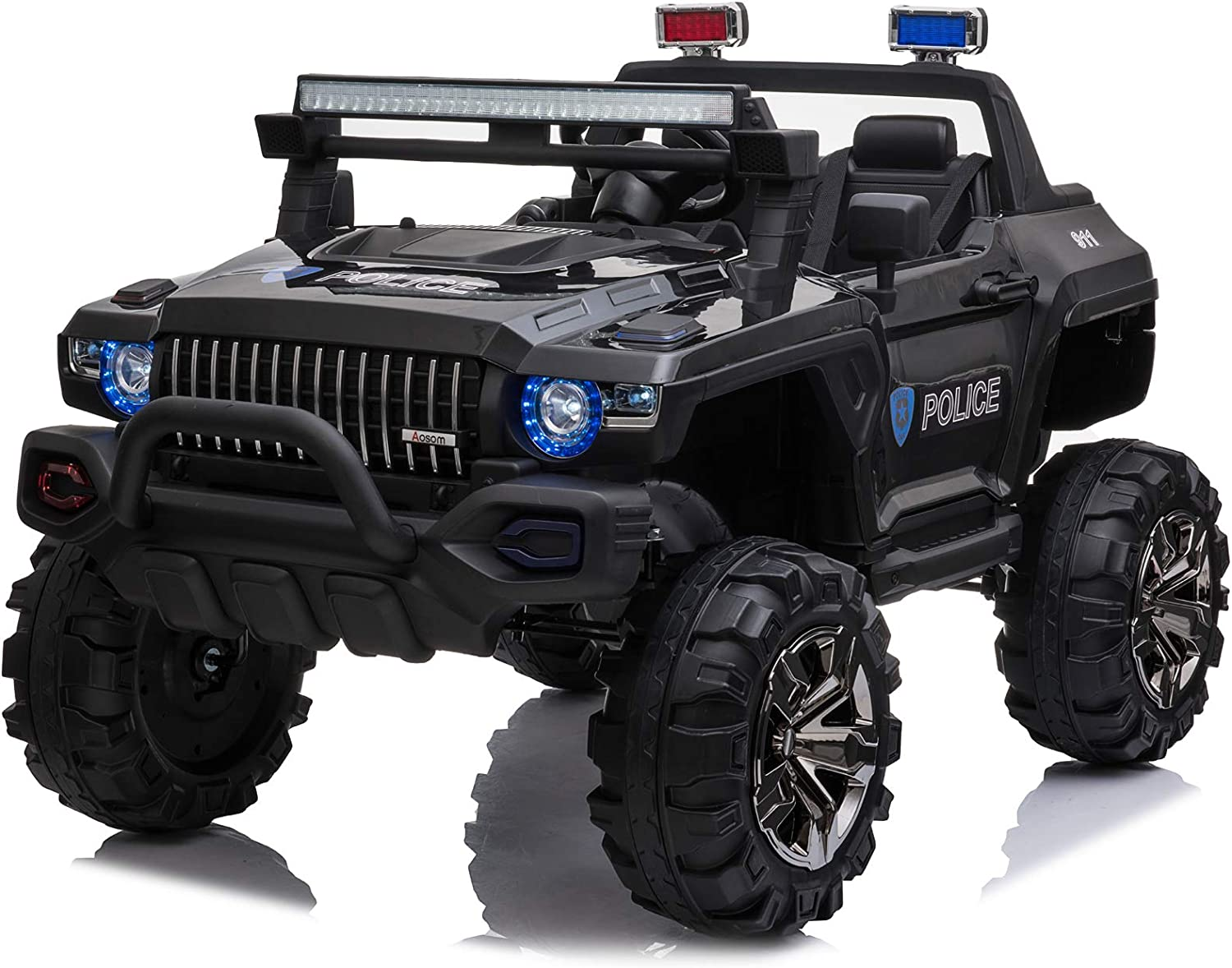 Aosom 12V Kids Electric 2-Seater Ride Truck Product SUV To Police Cheap mail order specialty store Car On
