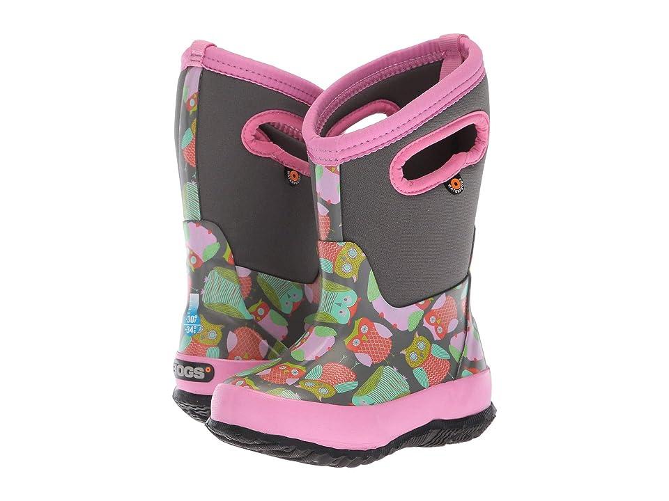 Bogs Kids Classic Owl (Toddler/Little Kid/Big Kid) (Gray Multi) Girls Shoes