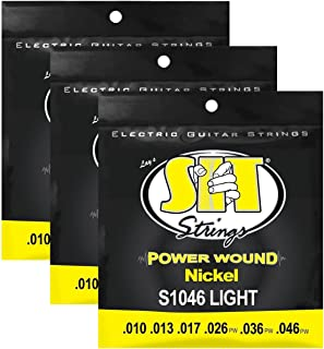 S.I.T. Strings S1046 Light Nickel Power Wound Electric Guitar Strings - 3 Sets
