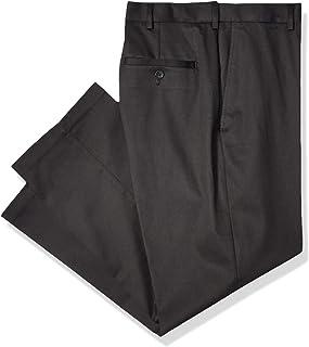 Haggar Men's Premium No-Iron Expandable-Waist Plain-Front...