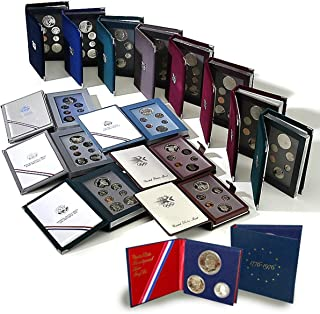 1983 S to 1997 US Mint Prestige Sets - 14 Sets - Complete Collection - Plus 1976 Silver 3-Piece Set - Original Boxes with COA DCAM Exceptional Quality