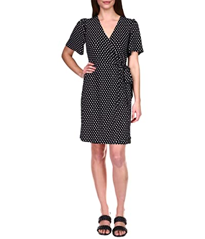 MICHAEL Michael Kors Dot Ring Faux Wrap Dress Women
