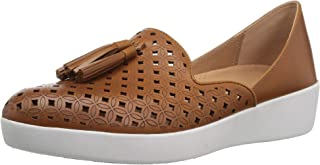 FITFLOP Womens K97 Tassel Superskate D'Orsay Loafers-Latticed Leather