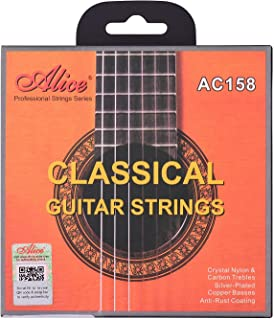 yongluo AC158-H Classical Guitar Strings Crystal Nylon & Carbon (G) Guitar String Set for Classical Guitars from 34 to 39 ...