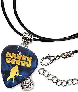Chuck Berry Púa de Guitarra Collar de la Cuerda Necklace Blue Pearl (GHF)