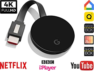 Wireless HDMI screen mirroring display dongle - GcastUltra second generation 5G chromecast - wifi receiver streaming 1080p-2k picture, For Android / Windows / iOS / Miracast /Airplay DNLA/ All Models