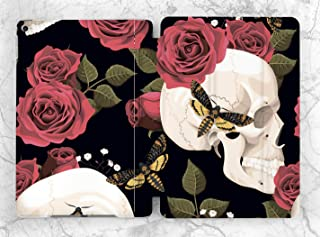 Red Floral Butterfly Skull Case For Apple iPad Mini 1 2 3 4 5 iPad Air 2 3 iPad Pro 9.7 10.5 11 12.9 inch iPad 9.7 inch 2017 2018 2019